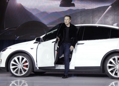 Tesla Motors's CEO, Elon Musk, introducing the Model X car late last month.