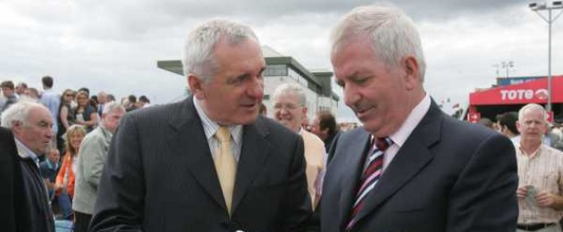 Bertie Ahern pictured here with Charlie McCreevy