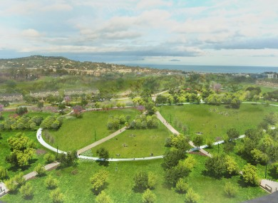 Tully Park, one of three parks planned for the Cherrywood site