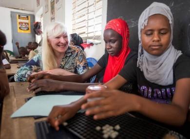 Kelly Gallagher in Senegal.