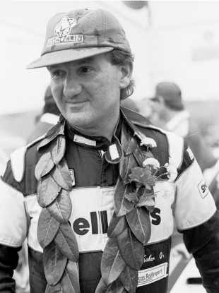 A victorious Bertie Fisher in 1987.