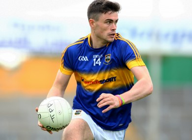Michael Quinlivan in action with his county.