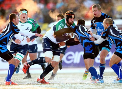 Connacht's Aly Muldowney on the charge.