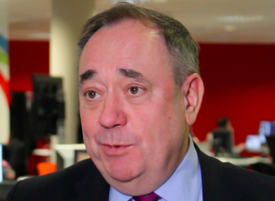 Alex Salmond speaking to TheJournal.ie today