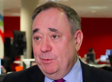Alex Salmond speaking to TheJournal.ie today