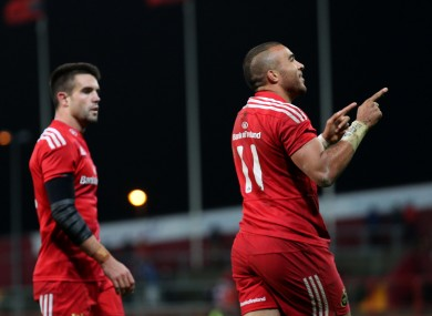 Munster will play Stade Francais in January.
