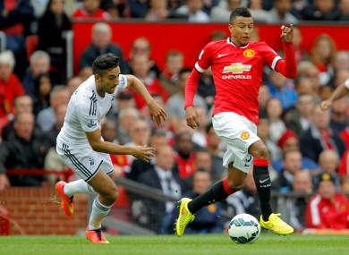 Jesse Lingard's last Premier League start came against Swansea over a year ago.