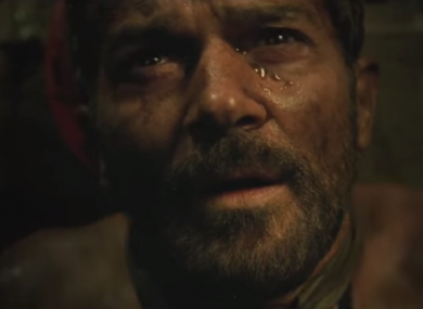 A scene from the film The 33