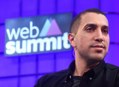 Tinder CEO Sean Rad at the Web Summit last month