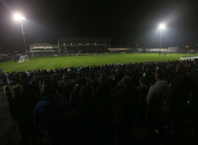 A full house at Markets Field during Limerick's promotion/relegation play-off.