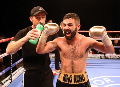 Jono Carroll (right) with trainer Paschal Collins