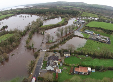 Scenes of the flooding in Co Clare yesterday