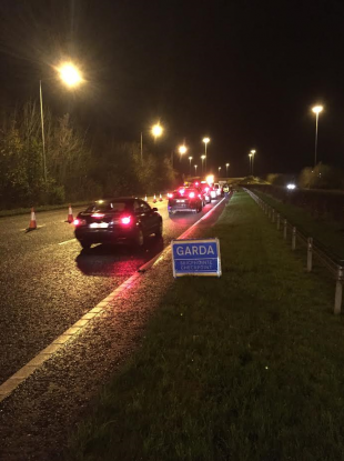 Last night's checkpoint on the M1.