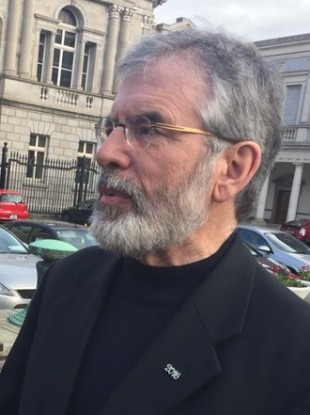 Gerry Adams at Leinster House today