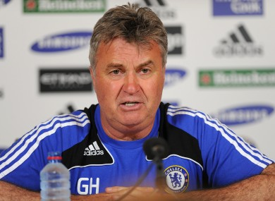 Hiddink will begin his second spell at the club.