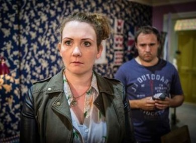 Fiz Stape and Tyrone Dobbs on Coronation Street