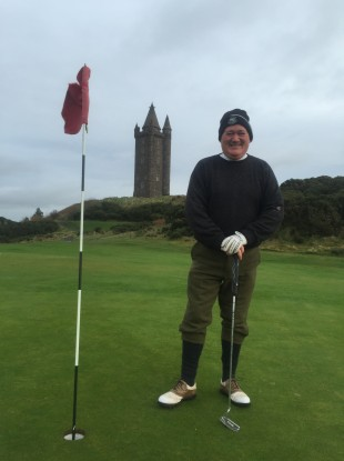 Pat Smyth playing Scrabo Golf Course in Newtownards, County Down earlier this month.