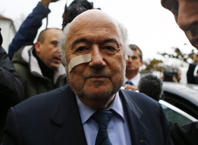 Sepp Blatter arrives for a news conference in Zurich.