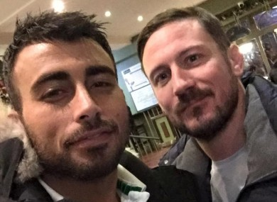 Makwan Amirkhani with SBG head coach John Kavanagh.