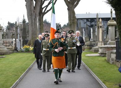Easter Sunday Ceremony at Glasnevin Cemetery (2015).