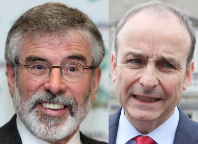 Gerry Adams and Micheál Martin