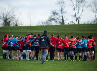 Munster advisor Andy Farrell watches as the squad prepare for Treviso trip.