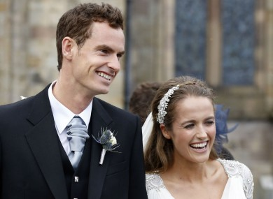 Andy and Kim Murray on their wedding day