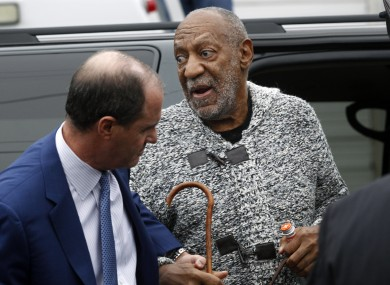 Bill Cosby arrives for a court appearance last December.