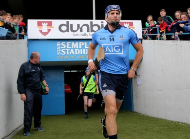 Conal Keaney takes to the field for Dublin's All-Ireland hurling qualifier against Limerick last summer.
