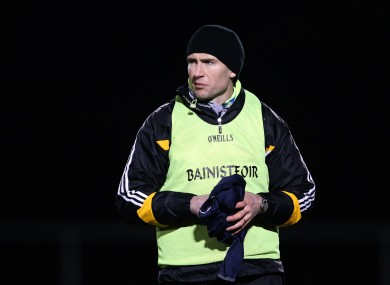 Eddie Brennan is managing the Kilkenny senior side in the Walsh Cup this year.