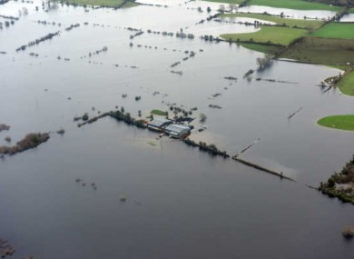 A flooded area of Athlone earlier this month