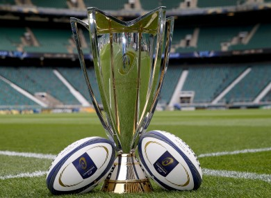 The prize on offer for the kings of European rugby.