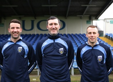 Byrne with fellow new signings Brian Shortall and Cathal Brady.