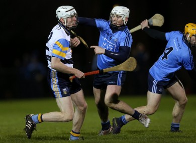 UCD's Colm Cronin and Dublin's Liam Rushe in action in tonight's game.