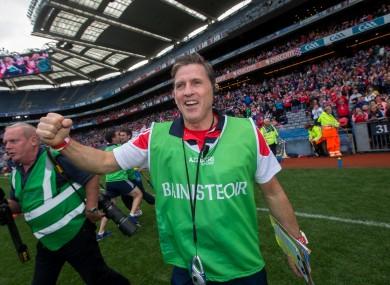 Paudie Murray celebrating Cork's victory in last September's All-Ireland final.