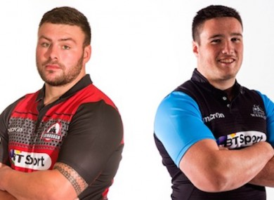 Sutherland, left, and Fagerson are the two uncapped players in Cotter's plans.