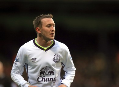 McGeady hasn't played for the Toffees since August.