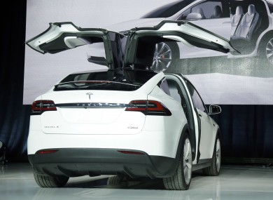 The Tesla Model X car was unveiled last year.