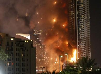 The Address hotel in Dubai ablaze