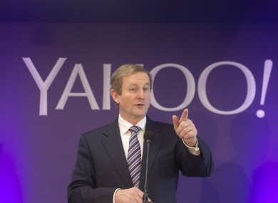 Taoiseach Enda Kenny at Yahoo's Dublin office launch in March