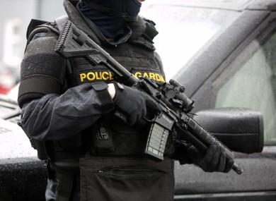 Armed garda patrol
