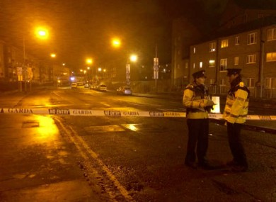 The scene in Ballybough where Eddie Hutch was shot dead on Monday