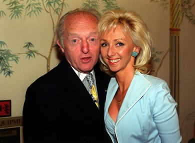 Magician Paul Daniels with his wife and professional partner Debbie McGee.