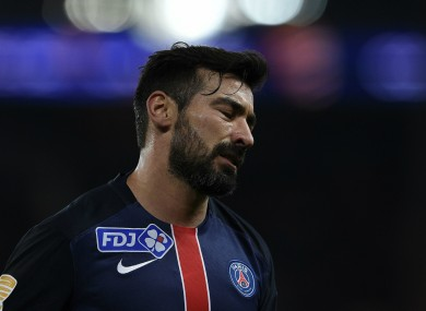 Former Paris Saint-Germain attacker Ezequiel Lavezzi