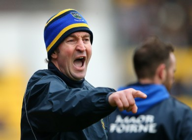 Tipperary boss Michael Ryan during yesterday's game in Nowlan Park.
