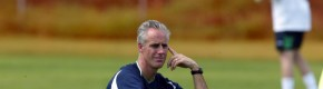 Mick McCarthy pictured in the Ireland training camp during the 2002 World Cup.