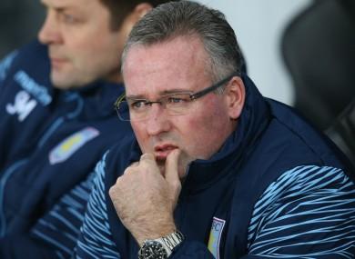 Paul Lambert as Aston Villa manager.