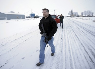 An FBI agent on duty near Burns, Oregon.