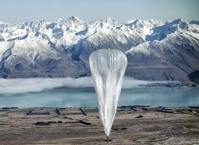 One of Google's internet beaming balloons being tested in New Zealand back in 2013.