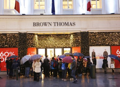 The queue for handbags (and gladrags) on 26 December last.